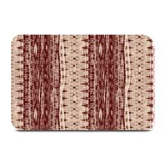 Wrinkly Batik Pattern Brown Beige Plate Mats by EDDArt