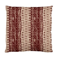 Wrinkly Batik Pattern Brown Beige Standard Cushion Case (two Sides) by EDDArt
