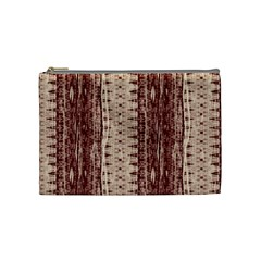 Wrinkly Batik Pattern Brown Beige Cosmetic Bag (medium)  by EDDArt