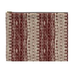 Wrinkly Batik Pattern Brown Beige Cosmetic Bag (xl) by EDDArt