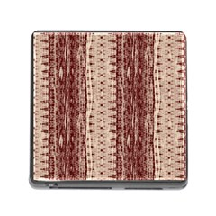 Wrinkly Batik Pattern Brown Beige Memory Card Reader (square) by EDDArt