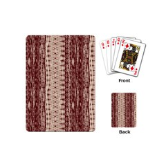 Wrinkly Batik Pattern Brown Beige Playing Cards (mini)  by EDDArt