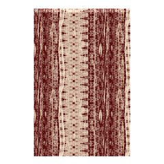 Wrinkly Batik Pattern Brown Beige Shower Curtain 48  X 72  (small)  by EDDArt