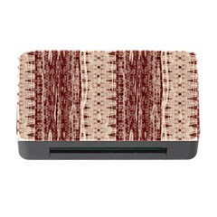 Wrinkly Batik Pattern Brown Beige Memory Card Reader With Cf by EDDArt
