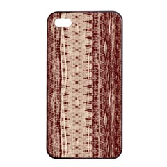 Wrinkly Batik Pattern Brown Beige Apple Iphone 4/4s Seamless Case (black) by EDDArt