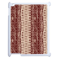 Wrinkly Batik Pattern Brown Beige Apple Ipad 2 Case (white) by EDDArt