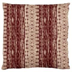 Wrinkly Batik Pattern Brown Beige Large Cushion Case (two Sides) by EDDArt