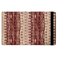 Wrinkly Batik Pattern Brown Beige Apple Ipad 2 Flip Case by EDDArt