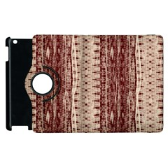 Wrinkly Batik Pattern Brown Beige Apple Ipad 3/4 Flip 360 Case by EDDArt