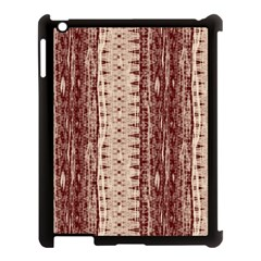 Wrinkly Batik Pattern Brown Beige Apple Ipad 3/4 Case (black) by EDDArt