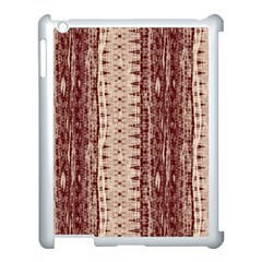 Wrinkly Batik Pattern Brown Beige Apple Ipad 3/4 Case (white) by EDDArt