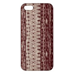 Wrinkly Batik Pattern Brown Beige Apple Iphone 5 Premium Hardshell Case by EDDArt