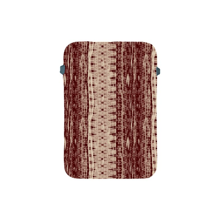 Wrinkly Batik Pattern Brown Beige Apple iPad Mini Protective Soft Cases
