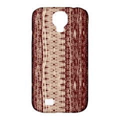 Wrinkly Batik Pattern Brown Beige Samsung Galaxy S4 Classic Hardshell Case (pc+silicone) by EDDArt