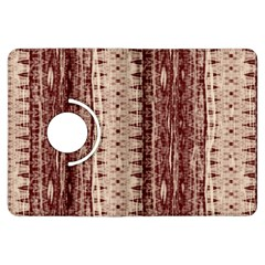 Wrinkly Batik Pattern Brown Beige Kindle Fire Hdx Flip 360 Case by EDDArt