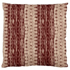 Wrinkly Batik Pattern Brown Beige Large Flano Cushion Case (two Sides) by EDDArt
