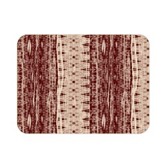 Wrinkly Batik Pattern Brown Beige Double Sided Flano Blanket (mini)  by EDDArt