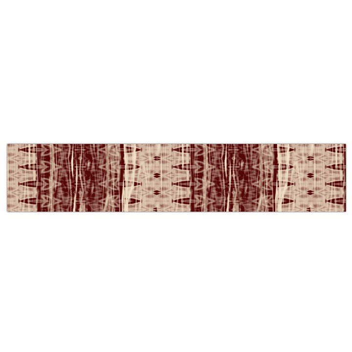 Wrinkly Batik Pattern Brown Beige Flano Scarf (Small)