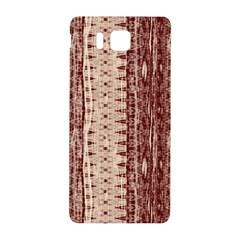Wrinkly Batik Pattern Brown Beige Samsung Galaxy Alpha Hardshell Back Case by EDDArt