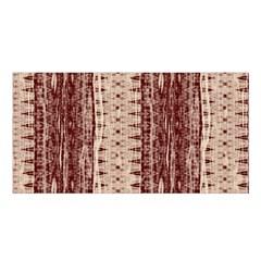 Wrinkly Batik Pattern Brown Beige Satin Shawl by EDDArt