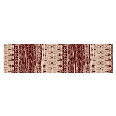 Wrinkly Batik Pattern Brown Beige Satin Scarf (oblong) by EDDArt