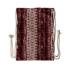 Wrinkly Batik Pattern Brown Beige Drawstring Bag (small) by EDDArt