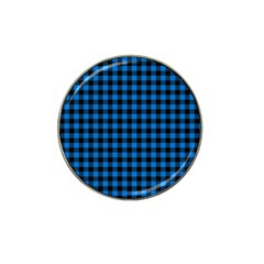 Lumberjack Fabric Pattern Blue Black Hat Clip Ball Marker by EDDArt