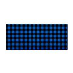 Lumberjack Fabric Pattern Blue Black Cosmetic Storage Cases by EDDArt
