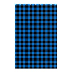 Lumberjack Fabric Pattern Blue Black Shower Curtain 48  X 72  (small)  by EDDArt