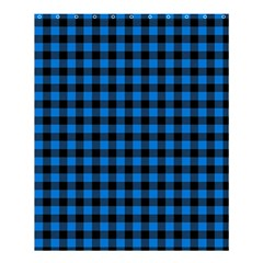 Lumberjack Fabric Pattern Blue Black Shower Curtain 60  X 72  (medium)  by EDDArt