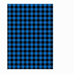 Lumberjack Fabric Pattern Blue Black Large Garden Flag (two Sides) by EDDArt