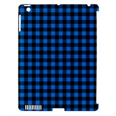 Lumberjack Fabric Pattern Blue Black Apple Ipad 3/4 Hardshell Case (compatible With Smart Cover) by EDDArt