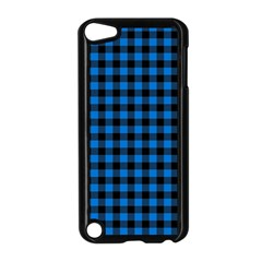 Lumberjack Fabric Pattern Blue Black Apple Ipod Touch 5 Case (black) by EDDArt