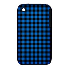 Lumberjack Fabric Pattern Blue Black Iphone 3s/3gs by EDDArt