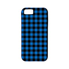 Lumberjack Fabric Pattern Blue Black Apple Iphone 5 Classic Hardshell Case (pc+silicone) by EDDArt