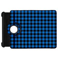 Lumberjack Fabric Pattern Blue Black Kindle Fire Hd 7