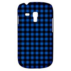 Lumberjack Fabric Pattern Blue Black Galaxy S3 Mini by EDDArt