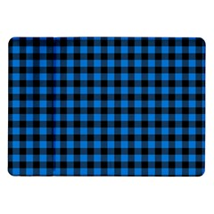 Lumberjack Fabric Pattern Blue Black Samsung Galaxy Tab 10 1  P7500 Flip Case by EDDArt