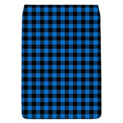 Lumberjack Fabric Pattern Blue Black Flap Covers (s)  by EDDArt