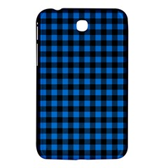 Lumberjack Fabric Pattern Blue Black Samsung Galaxy Tab 3 (7 ) P3200 Hardshell Case  by EDDArt