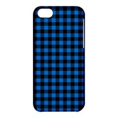 Lumberjack Fabric Pattern Blue Black Apple Iphone 5c Hardshell Case by EDDArt