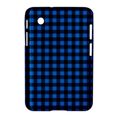 Lumberjack Fabric Pattern Blue Black Samsung Galaxy Tab 2 (7 ) P3100 Hardshell Case  by EDDArt