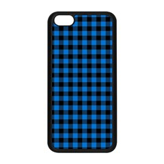 Lumberjack Fabric Pattern Blue Black Apple Iphone 5c Seamless Case (black) by EDDArt