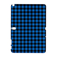 Lumberjack Fabric Pattern Blue Black Galaxy Note 1 by EDDArt
