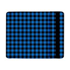 Lumberjack Fabric Pattern Blue Black Samsung Galaxy Tab Pro 8 4  Flip Case by EDDArt