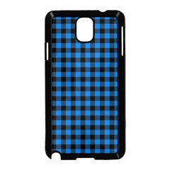 Lumberjack Fabric Pattern Blue Black Samsung Galaxy Note 3 Neo Hardshell Case (black) by EDDArt