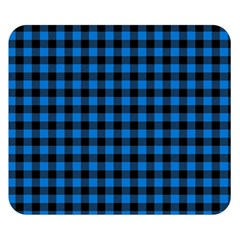 Lumberjack Fabric Pattern Blue Black Double Sided Flano Blanket (small)  by EDDArt