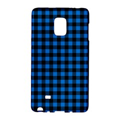 Lumberjack Fabric Pattern Blue Black Galaxy Note Edge by EDDArt