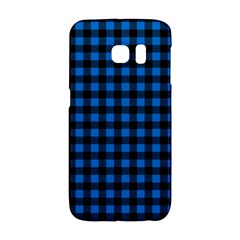 Lumberjack Fabric Pattern Blue Black Galaxy S6 Edge by EDDArt