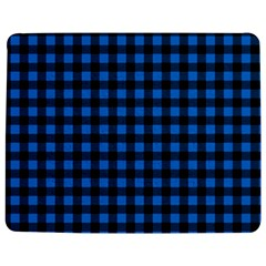 Lumberjack Fabric Pattern Blue Black Jigsaw Puzzle Photo Stand (rectangular) by EDDArt